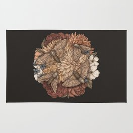 Flowers and Moths Rug