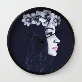 Porcelain Dark Beauty W. Wall Clock