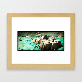 """Northern Island"" - J. Lama Moral Framed Art Print"