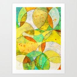 Moving Circles No. 1 Art Print