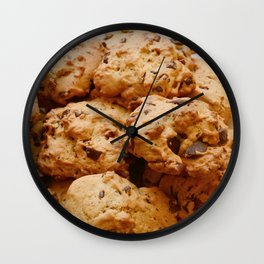 Chocolate chip and pecan cookies Wall Clock