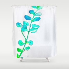 Watercolor Leaves Shower Curtain