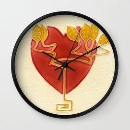 Art Nouveau Heart Wall Clock