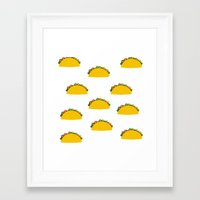 taco Framed Art Prints featuring Taco  by Beautiful Artworks