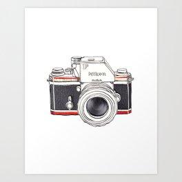 Nikon Camera Art Print