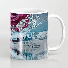 PURPLE ROSE FALLING IN  POND WATER Coffee Mug