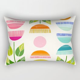 Sugar Blooms - Abstract Retro Inspired Design Rectangular Pillow
