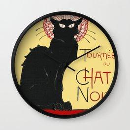 Tournee Du Chat Noir - 1896 Poster Wall Clock
