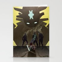 shadow of the colossus Stationery Cards featuring Shadow of the Colossus - Illustration by Kim Herbst