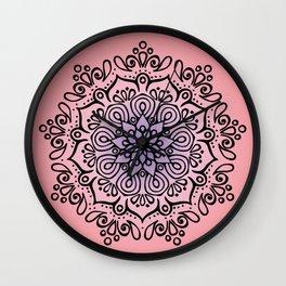 Baesic Sunset Traquil Mandala Wall Clock