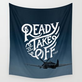 Ready To Take Off Wall Tapestry