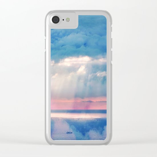 Celestial light Clear iPhone Case