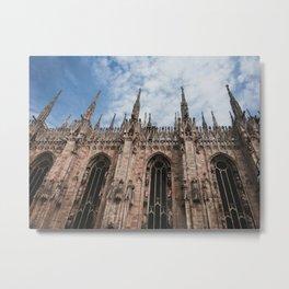 Architectural Duomo in Milan, Italy Metal Print