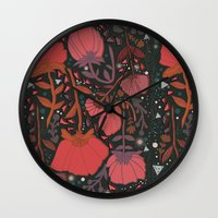 number Wall Clocks featuring Nature number 2. by Jo Cheung Illustration