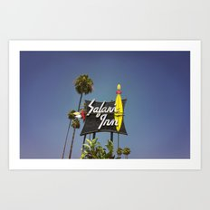 Safari Inn Art Print