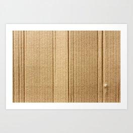 Rustic Cardboard texture Art Print