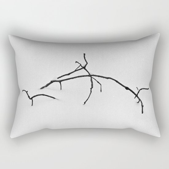 Branch in snow Rectangular Pillow