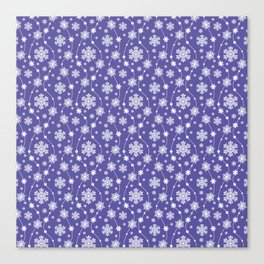 Purple Holiday Snowflake Pattern Canvas Print