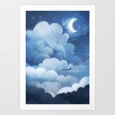 Red Eye Flight Art Print