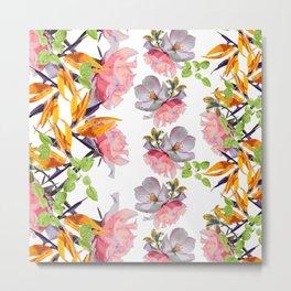 Lush Watercolor Florals Metal Print