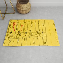 Library Card 23322 Yellow Rug