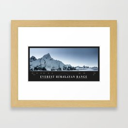 The Everest Himalayan Range Framed Art Print