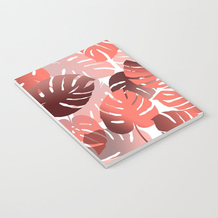 Monstera Big Leaves white background Notebook