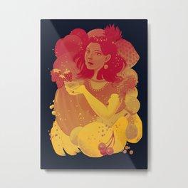 Smoothie Girl Metal Print