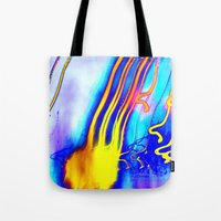 jellyfish Tote Bags featuring Jellyfish by Serena Gailey