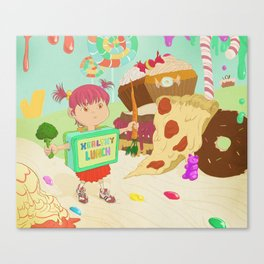 Healthy Lunch Canvas Print