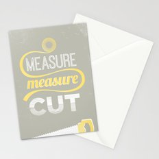 Measure Twice Cut Once Stationery Cards