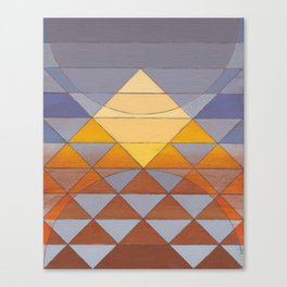 Pyramid Sun Mauve Purple Canvas Print