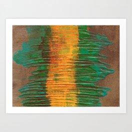 Yellow & Green Abstract Art Print