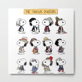 The Twelve Dogtors Metal Print