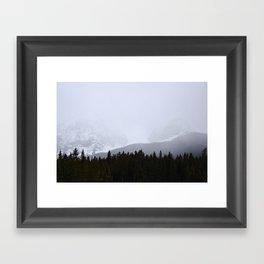 Banff & Mist Framed Art Print