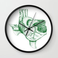 The Heart of Texas (UNT) Wall Clock