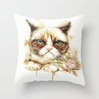 nope Throw Pillows featuring Nope by beart24
