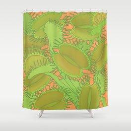 Free Hugs (Venus flytrap - Orange) Shower Curtain