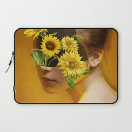 Sunflower Lady Laptop Sleeve