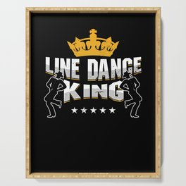 Line Dance King Line Dancing Country Boots Gift Serving Tray