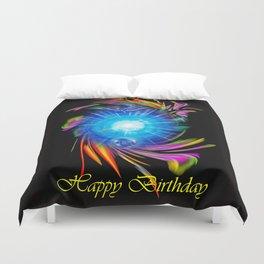 Zodiac sign Skorpio, Happy Birthday Duvet Cover