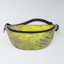 Abstract risk of electric shock Fanny Pack
