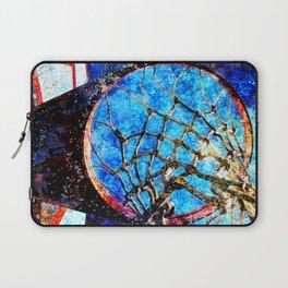 Sports art - Basketball hoop and net vs 180 Laptop Sleeve