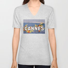 France 1930 Cannes French Riviera Travel Poster Unisex V-Neck