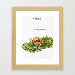 La Cuisine Fusion - Pastel de Nata Salad Framed Art Print