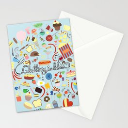 Gluttony Is Bliss Stationery Cards