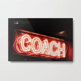 Coach Metal Print