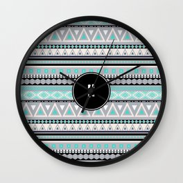 Monogram Tribal Pattern *H* Wall Clock