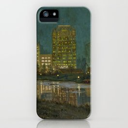 Central Park and Plaza Hotel, NY, NY by William Anderson Coffin iPhone Case