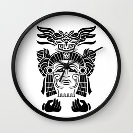 Aztec Priest Wall Clock